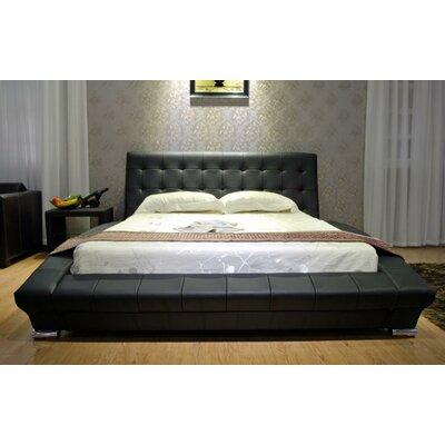 Upholstered Platform Bed Color: Black, Size: California King