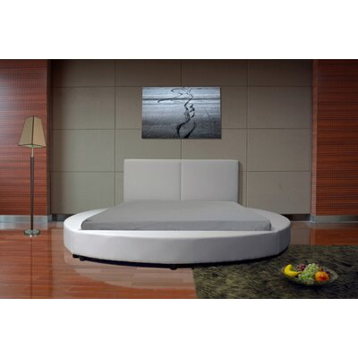 Lura Queen Upholstered Platform Bed Color: White