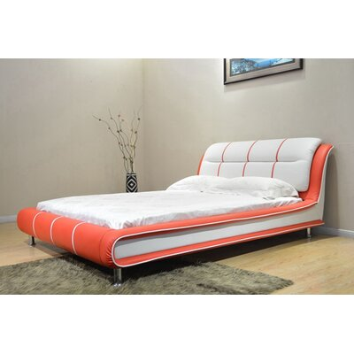 Bovina Full/Double Upholstered Platform Bed Color: Red/White