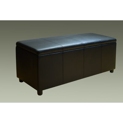 Haslett Storage Ottoman Color: Black