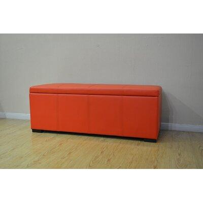 Haslett Storage Ottoman Color: Orange