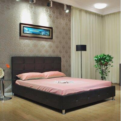 Upholstered Platform Bed Size: Queen, Color: Black