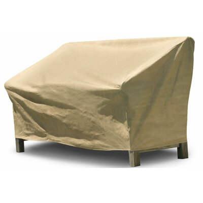 All-Seasons Outdoor Loveseat Cover Color: Tan, Size: 39