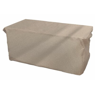 English Garden Slim Outdoor Ottoman/Coffee Table Cover Size: 25 H x 18 W x 42 D