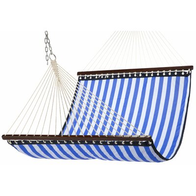 Waterproof Polyester Hammock Color: Navy/White