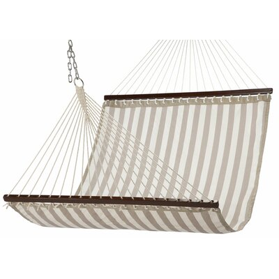 Waterproof Polyester Hammock Color: Tan/White