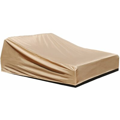 All-Seasons Outdoor Chaise Lounge Cover Color: Tan, Size: 32 H x 64 W x 80 D