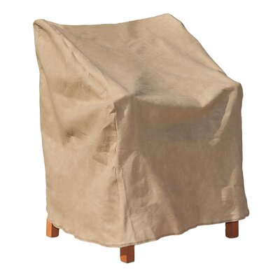 All-Seasons Outdoor Chair Cover Color: Tan, Size: 31 H x 30 W x 27 D