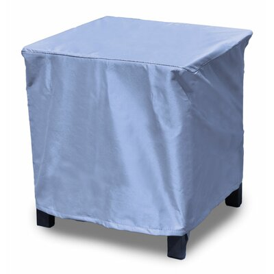 All-Seasons Square Outdoor Side Table/Ottoman Cover Size: 16 H x 28 W x 28 D, Color: Blue