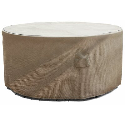 English Garden Round Patio Table Cover Size: 72 W x 72 D