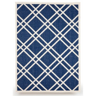 Maverick Royal Blue Indoor/Outdoor Area Rug Rug Size: 5 x 7