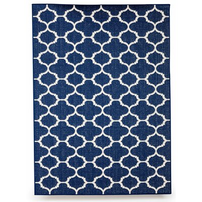 Winchester Royal Blue Indoor/Outdoor Area Rug Rug Size: 5 x 7