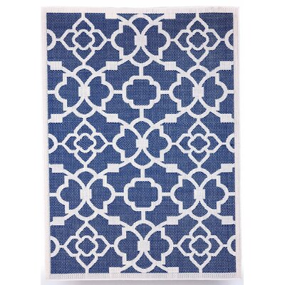Monaco Royal Blue Indoor/Outdoor Area Rug Rug Size: 5 x 7