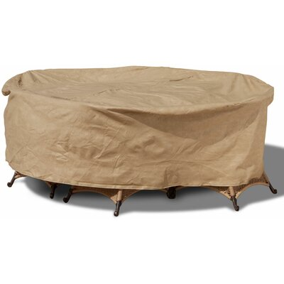 All-Seasons Round Patio Table and Chairs Combo Cover Size: 88 W x 88 D, Color: Tan