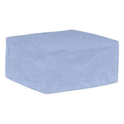 All-Seasons Medium Slim Outdoor Ottoman/Coffee Table Cover Color: Blue