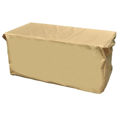 All-Seasons Outdoor Ottoman Cover Color: Tan