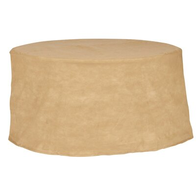 All-Seasons Round Patio Table Cover Color: Tan, Size: 36 W x 36 D
