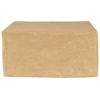 All-Seasons Square Patio Table Cover Color: Tan, Size: 46 W x 46 D