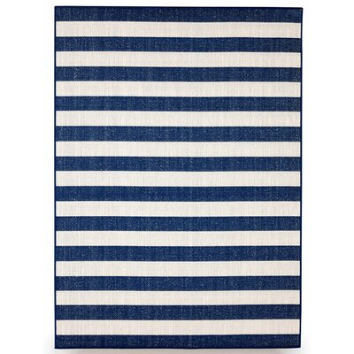Naples Royal Blue Indoor/Outdoor Area Rug Rug Size: 5 x 7