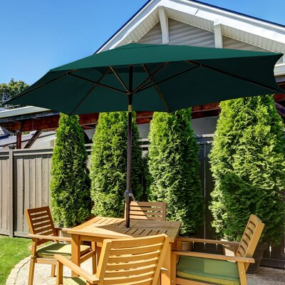 11 SunBlok Patio Market Umbrella with Tilt Aluminum Pole Finish: Hunter Green