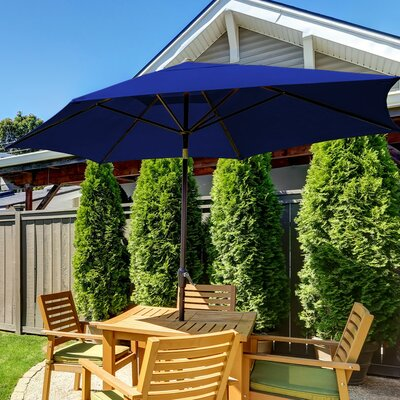 11 SunBlok Patio Market Umbrella with Tilt Aluminum Pole Finish: Royal Blue
