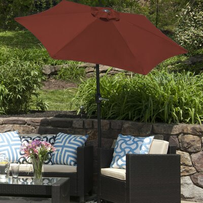 SunBlok Patio Market Umbrella with Tilt Aluminum Pole Fabric: Burgandy