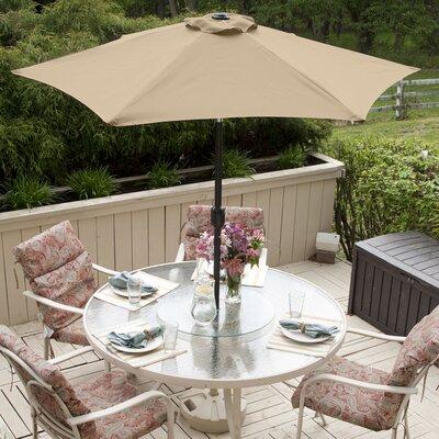 SunBlok Patio Market Umbrella with Tilt Aluminum Pole Fabric: Tan