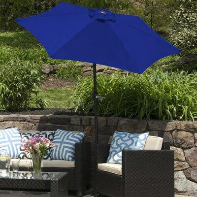 SunBlok Patio Market Umbrella with Tilt Aluminum Pole Fabric: Royal Blue