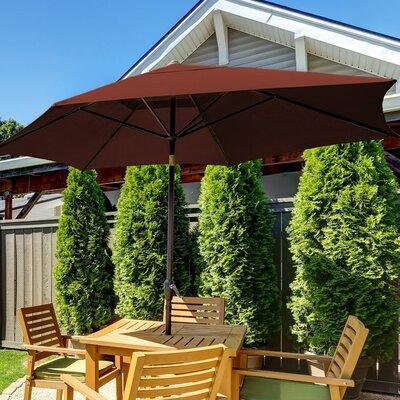 SunBlok Patio Market Umbrella with Tilt Aluminum Pole Fabric: Burgundy