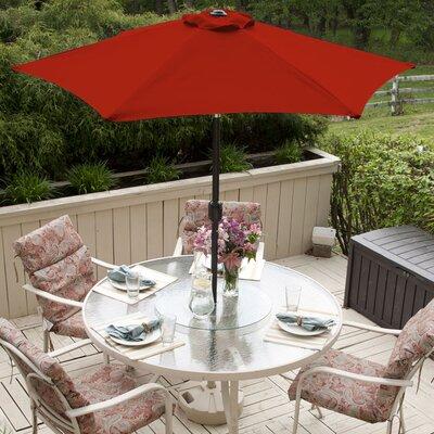 SunBlok Patio Market Umbrella with Tilt Aluminum Pole Fabric: Red
