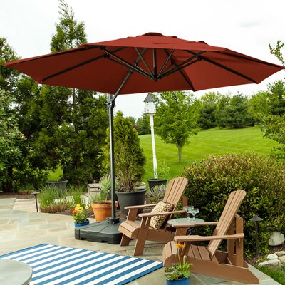 9.5 SunBlock Cantilever Umbrella Color: Burgundy