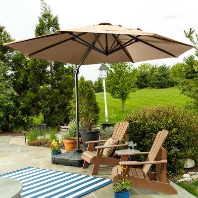 9.5 SunBlock Cantilever Umbrella Color: Tan