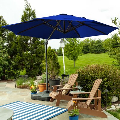 9.5 SunBlock Cantilever Umbrella Color: Royal Blue
