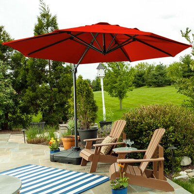 9.5 SunBlock Cantilever Umbrella Color: Red