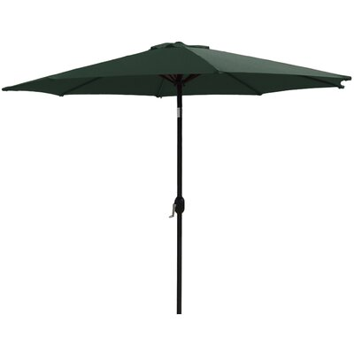 7 Market Umbrella Fabric: Hunter Green