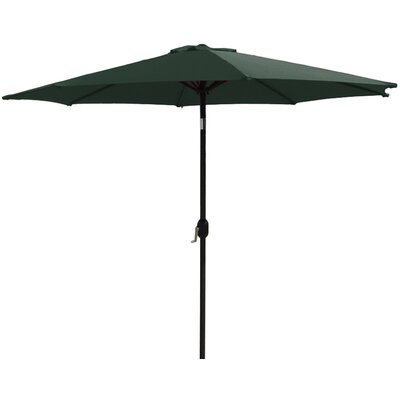 9 Market Umbrella Fabric: Hunter Green