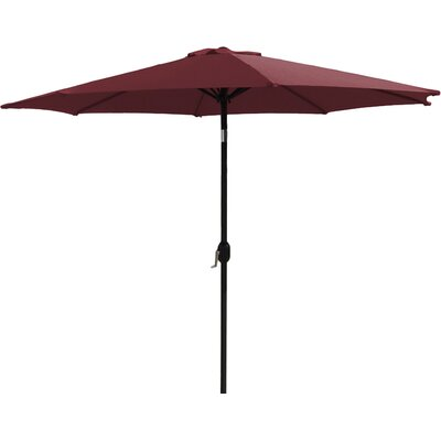 7 Market Umbrella Fabric: Burgundy