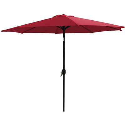 9 Market Umbrella Fabric: Red