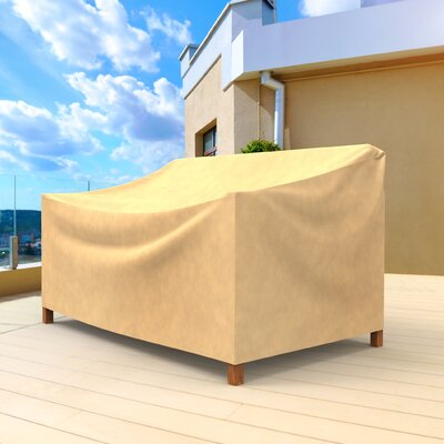 All-Seasons Small Outdoor Sofa Cover for Loveseat/Bench Color: Tan