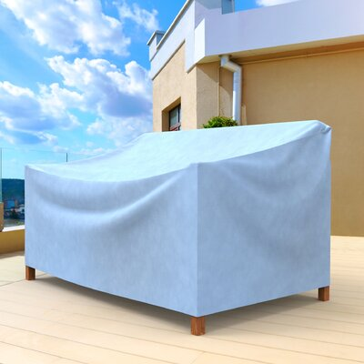 All-Seasons Small Outdoor Sofa Cover for Loveseat/Bench Color: Blue