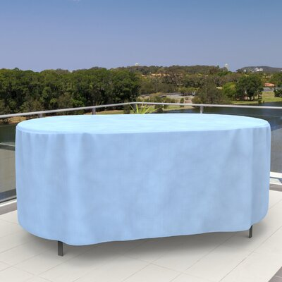 All-Seasons Oval Patio Table Cover Size: 84 D, Color: Tan