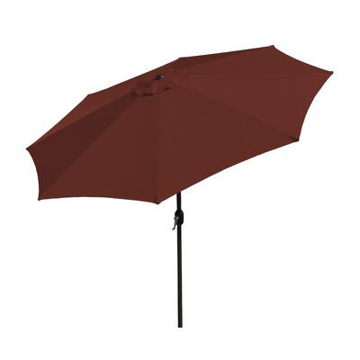 SunBlok Patio Market Umbrella with Tilt Aluminum Pole Fabric: Burgandy