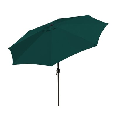 SunBlok Patio Market Umbrella with Tilt Aluminum Pole Fabric: Hunter Green