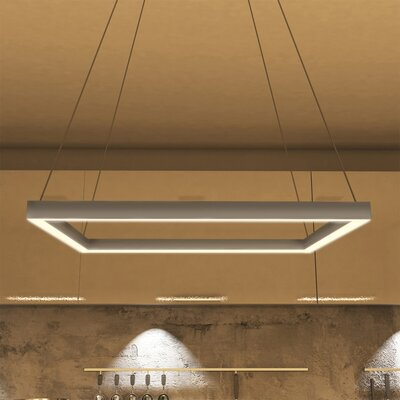 Atria Square 2-Light LED Geometric Pendant