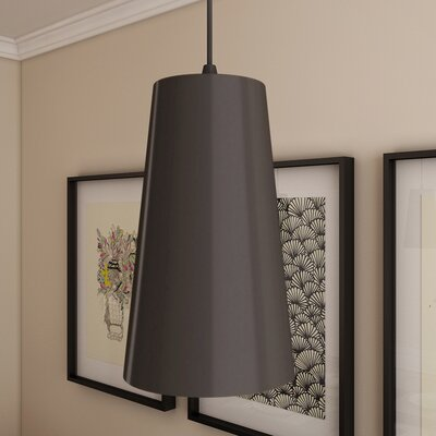 Gatria 1-Light Mini Pendant Finish: Black