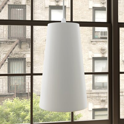 Gatria 1-Light Mini Pendant Finish: White