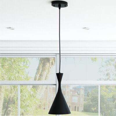 Celaeno 1-Light Mini Pendant Finish: Black