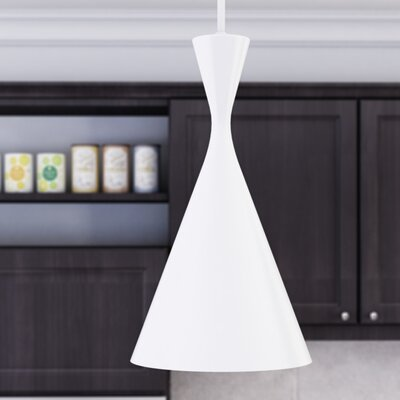 Celaeno 1-Light Mini Pendant Finish: White