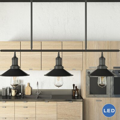 Delphinus 3-Light Kitchen Island Pendant Finish: Architectural Bronze
