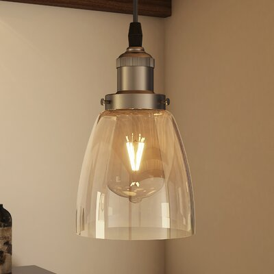 Janesville 1-Light Mini Pendant Finish: Satin Nickel